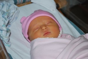 My baby girl getting ready to leave the hospital in October 2009.